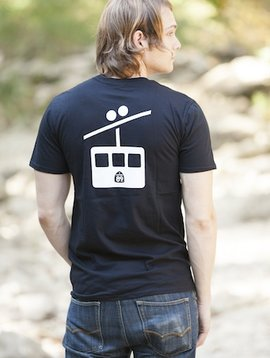 Men's Tshirt Men's Short Sleeve T-Shirt Shield on Front Gondola on Back