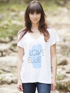 Women's T-Shirts Love Blue Women's Graphic Tee