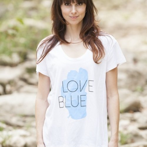 Women's T-Shirts Love Blue Women's Graphic Tee
