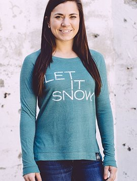 Women's shirts Women's Let It Snow Locker Room Pullover