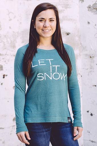 Women's shirts Women's Let It Snow Locker Room Pullover