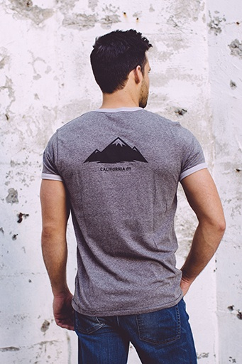 Men's Tshirt Men's Short Sleeve Mountain Ringer Tee