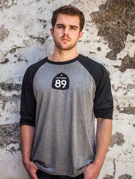 Unisex T-shirt Baseball Shirt with Shield front, Gondola on Back