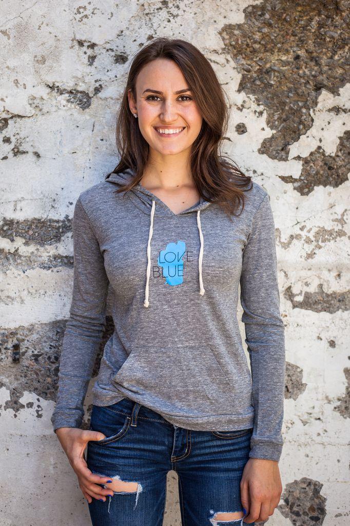 Women's Pullover Women's Lightweight Love Blue Pullover