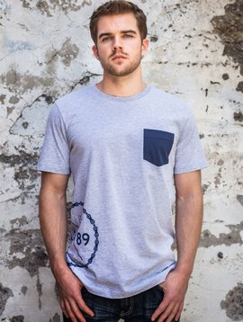Men's Tshirt Men's Short Sleeve Spoke Pocket Tee