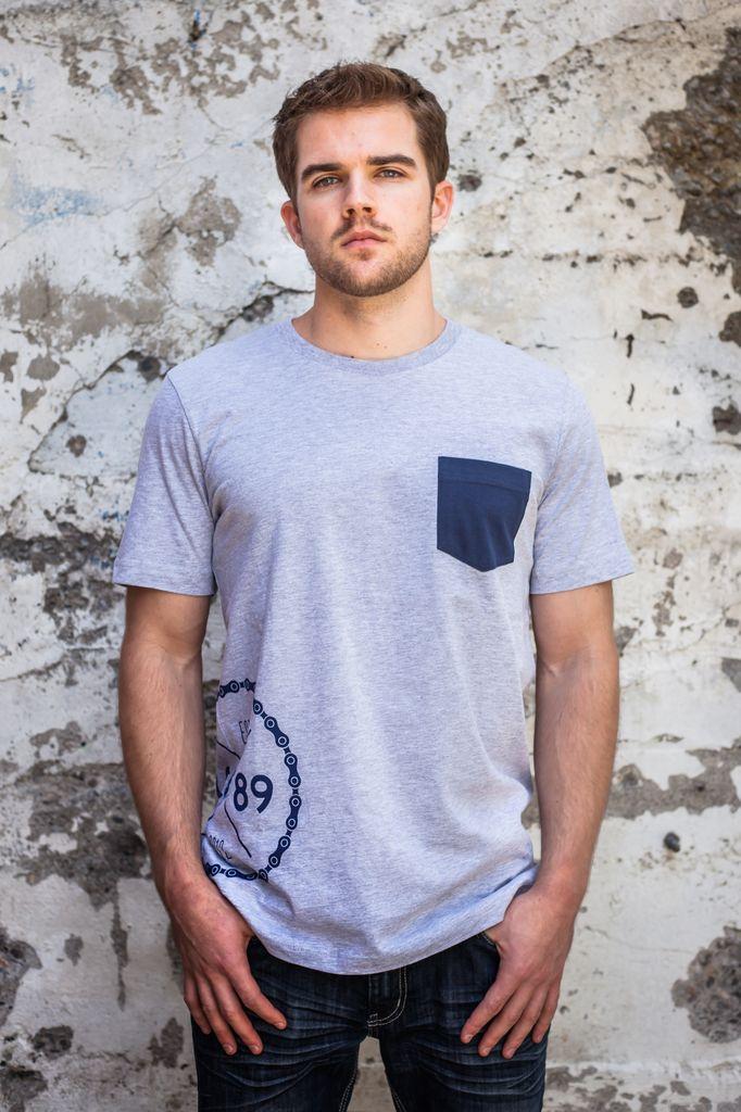 Men's Tshirt Men's Short Sleeve Spoke Pocket Tee