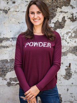 Women's shirts Women's Long Sleeve Flowy Powder