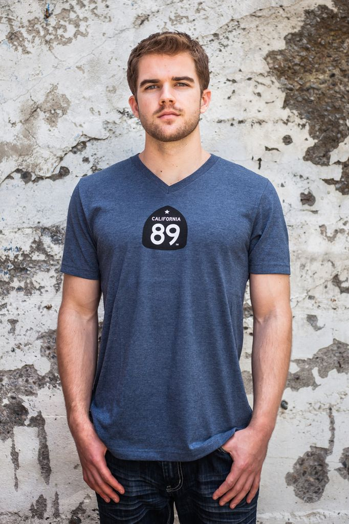 Men's Tshirt Bicycle Men's V-Neck Tee