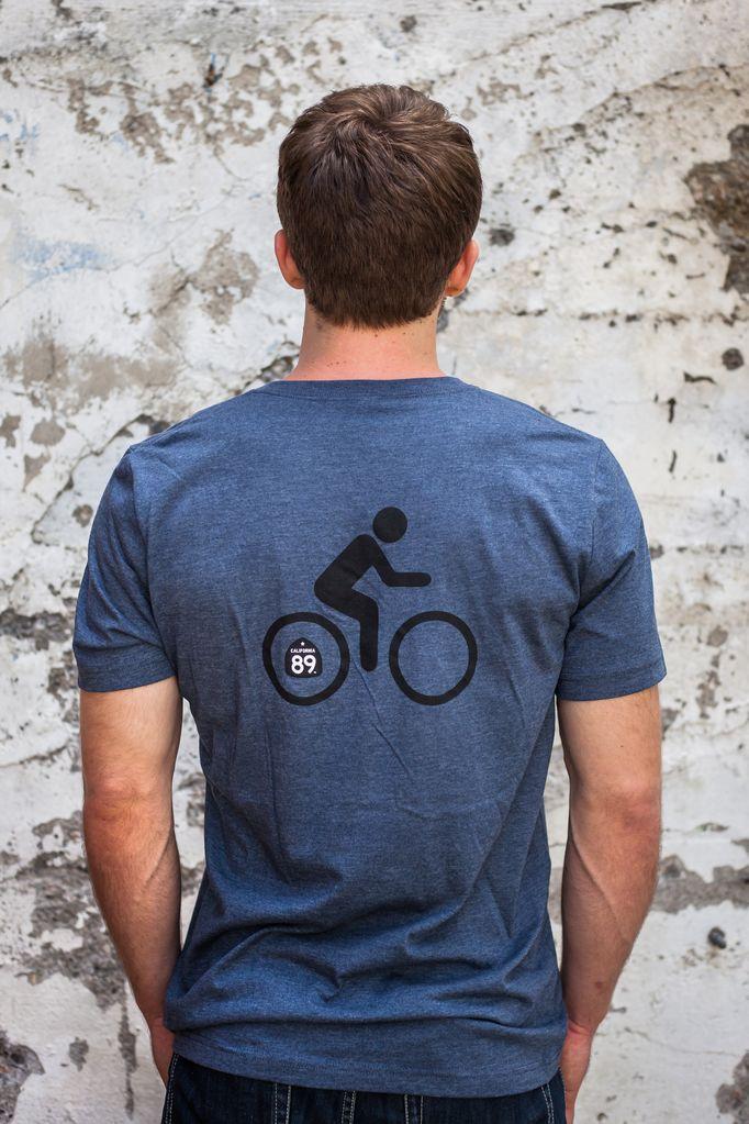 Men's Tshirt Men's Bicycle V-Neck