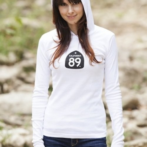 Women's T-Shirts Snowflake Women's Long Sleeve Hooded Tee