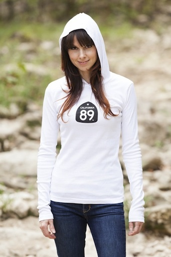 Women's T-Shirts Women's Long Sleeve Hooded Tee with Snowflake
