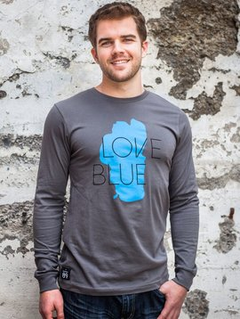 Men's Long Sleeve Tee Men's Long Sleeve Large Love Blue Tee