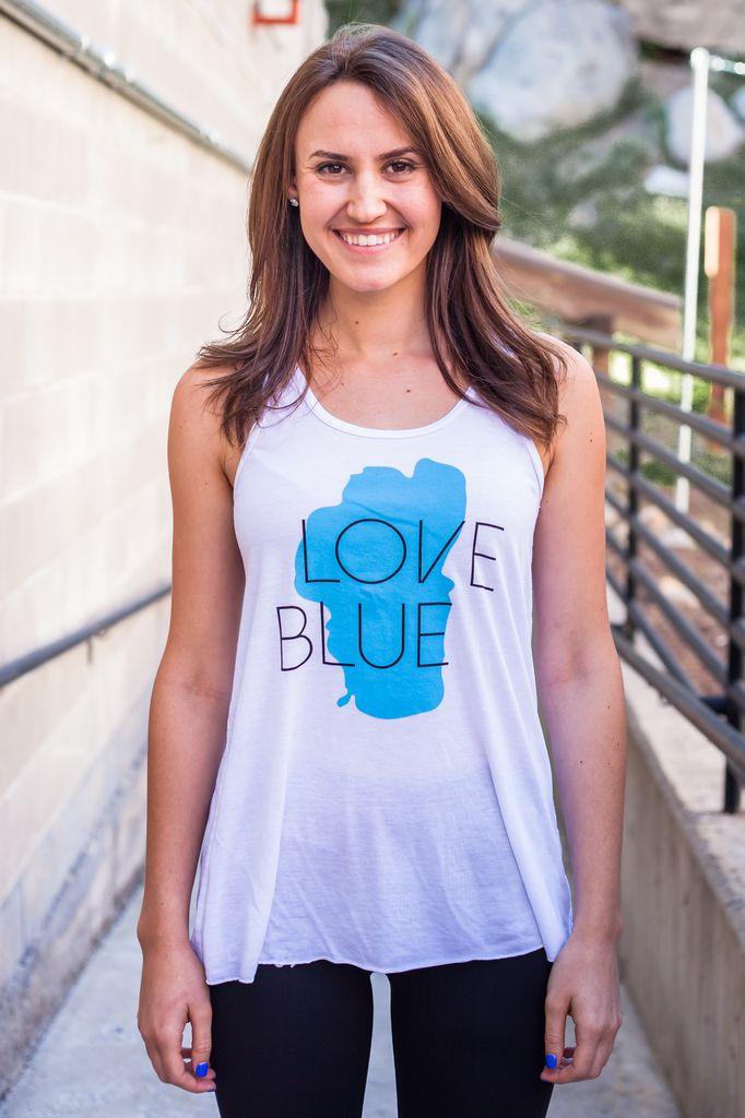 Women's Tank Women's Love Blue Tank
