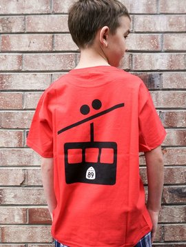 Kid's T-Shirts Kids CA89 T-Shirt with Gondola on Back