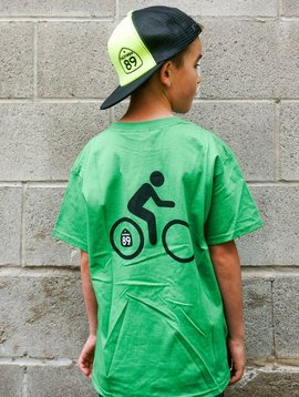 Kid's T-Shirts Kids CA89 T-Shirt with Bike on Back