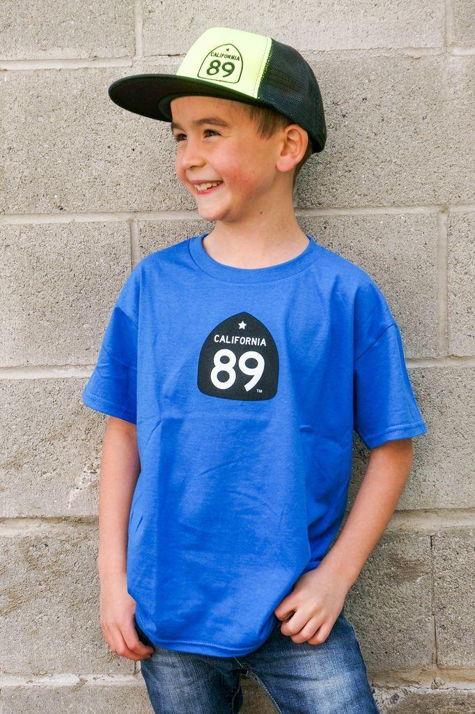 Kid's T-Shirts Kids CA89 T-Shirt with Bike on Back