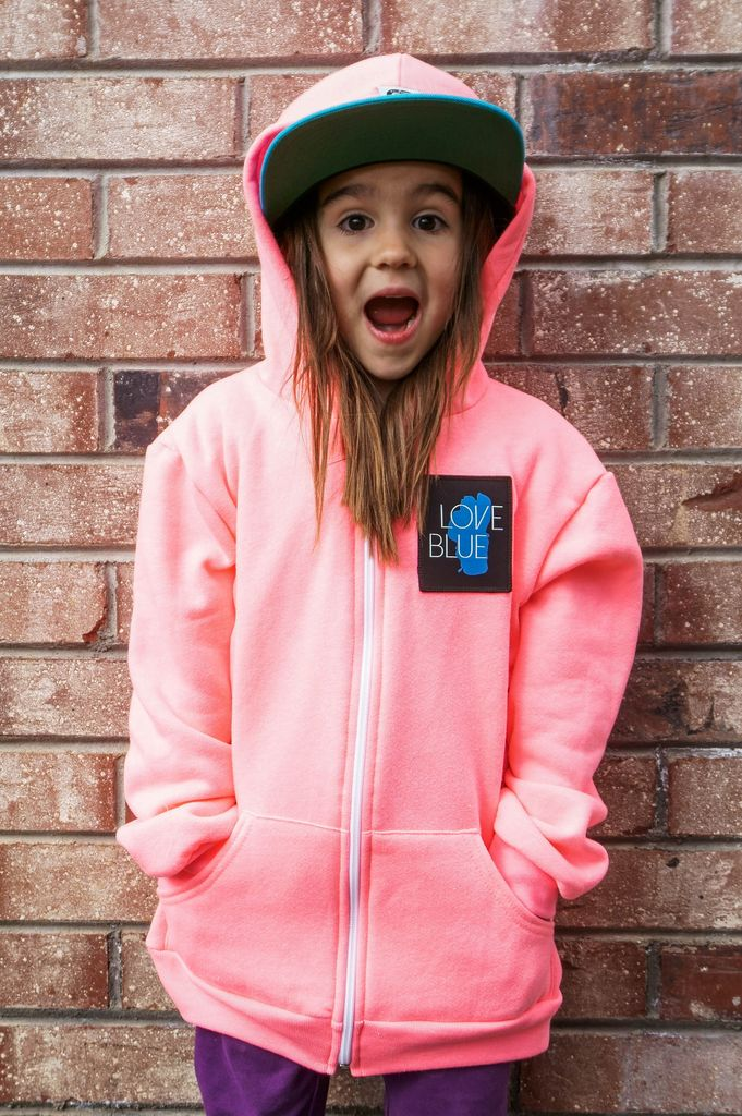 Kids Sweatshirts Love Blue Kid's Zip Hoodie