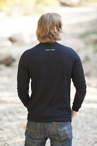 Men's Long Sleeve Tee Take A Peak Long Sleeve Men's Tee