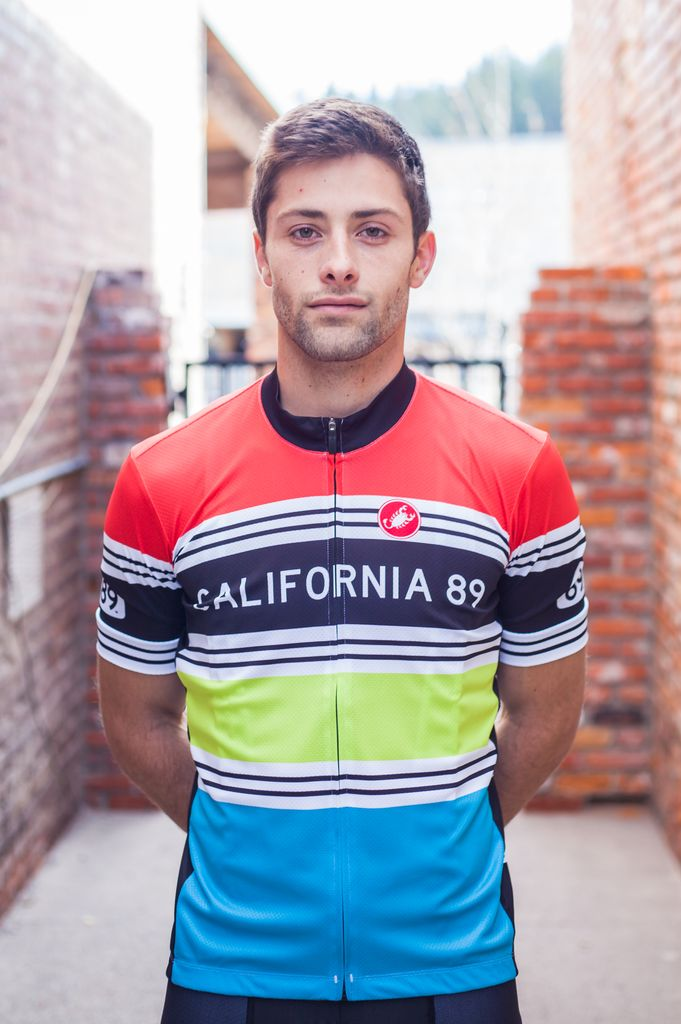 Bike Jersey Striped Men's Castelli Bike Jersey