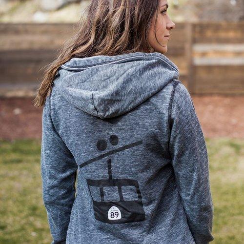 Women's Jacket Women's Zen J America Zip with hood, Gondola Back