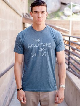 Men's Tshirt Men's short sleeve t-shirt, Mtns are calling front, Mtns back