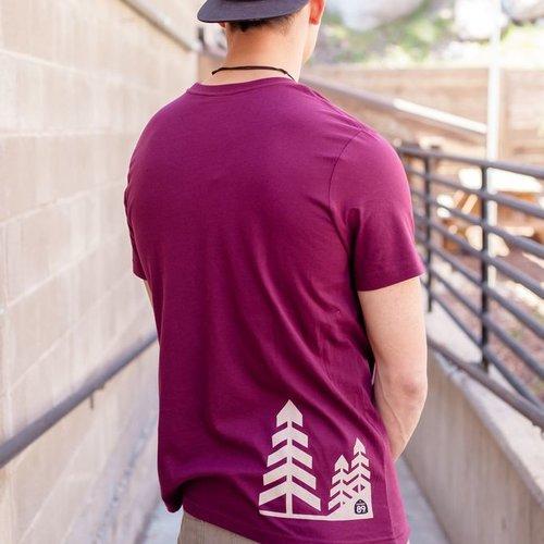 Men's Tshirt Men's Short Sleeve Dial w/ Trees