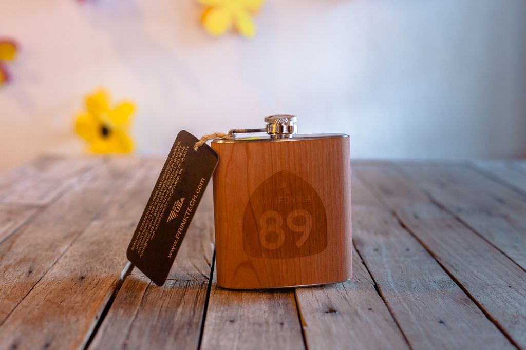 Prink (wooden barware) California 89 Wooden Flask