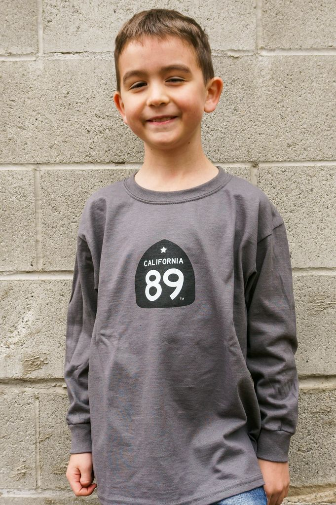 Kid's T-Shirts Kid's long sleeve tshirt, Shield front, Gondola back