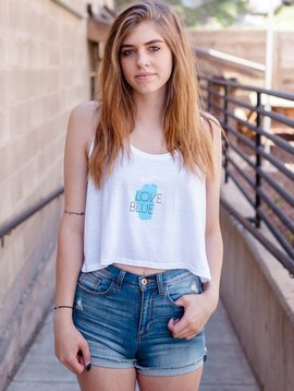 Women's Tank Boxy Love Blue Women's Tank