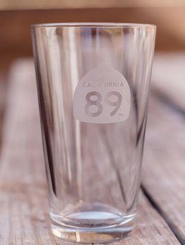 California 89 Etched Beer Pint Glass
