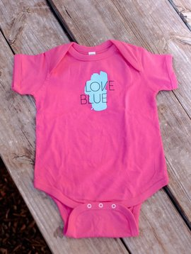 California 89 Love Blue Baby Onesie