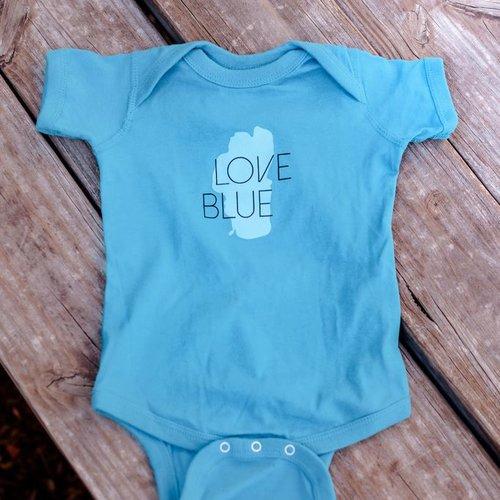 California 89 Love Blue Baby Onesie