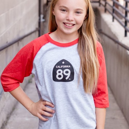 California 89 Gondola Kid's Baseball Tee