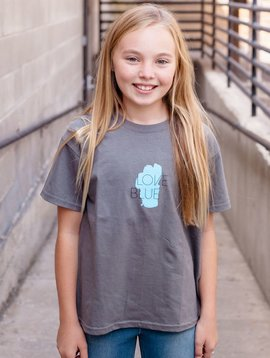 Kid's T-Shirts Kid's Love Blue front T-Shirt