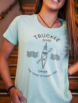 California 89 Women's short sleeve Truckee River tshirt