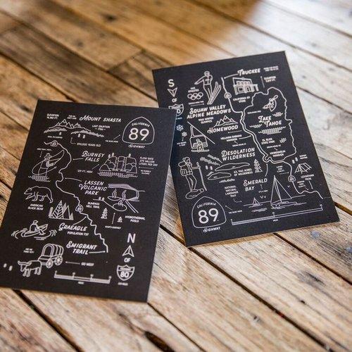 California 89 CA89 Postcards