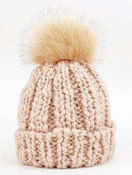 Hats Urbanista Knit Beanie Faux Fur