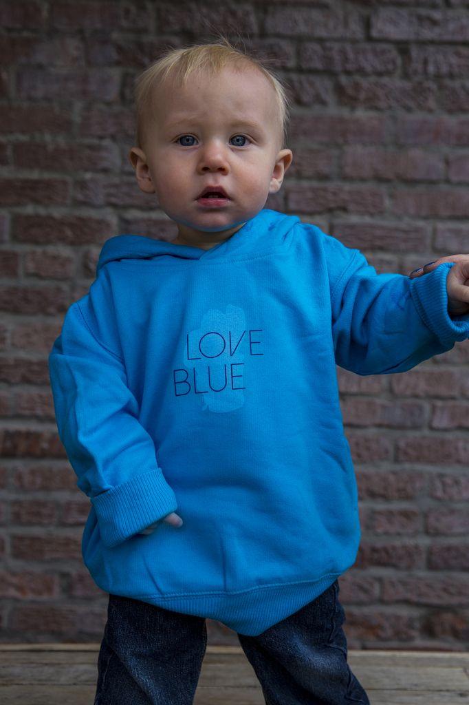 Love Blue Toddler Hoodie