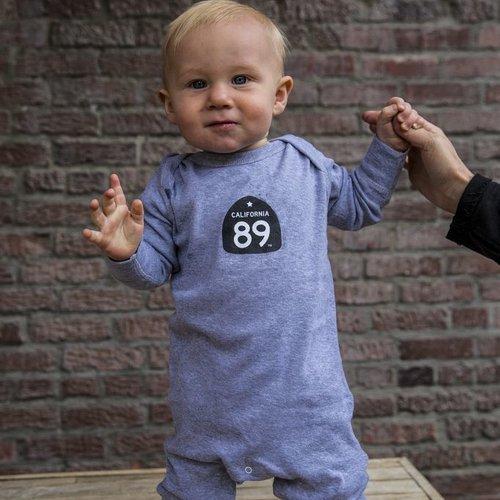 California 89 Long Sleeve Baby Onesie