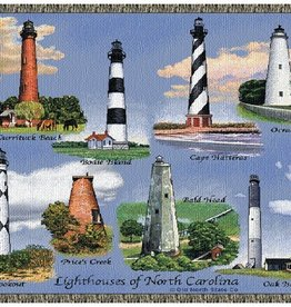 Gift Items NC Lighthouses Throw