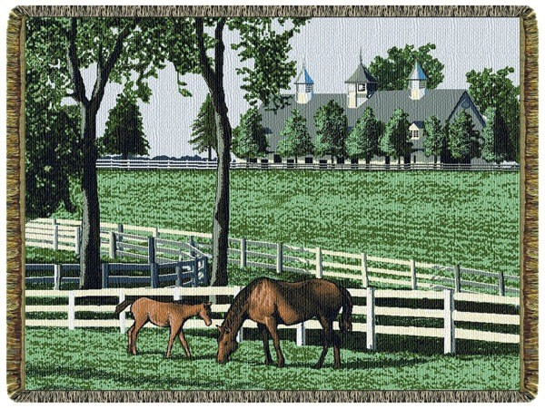 Gift Items Kentucky Dreamin - Horses Throw