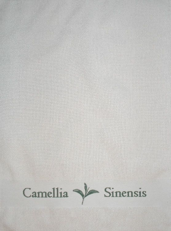 Gift Items Tea Towel with Camellia Sinensis Border Design