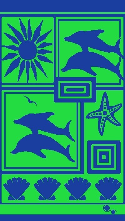 Gift Items Dolphin Patch - Sheared Jacquard Beach Towel