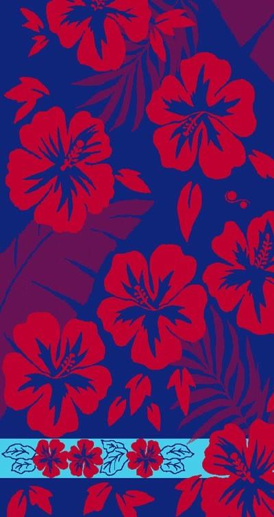 Gift Items Hibiscus - Sheared Jacquard Beach Towel