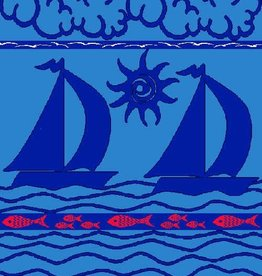 Gift Items Sailboats Blue - Sheared Jacquard Beach Towel