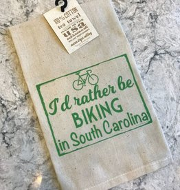 "Gift Items Tea Towel ""I'd rather be BIKING in South Carolina"""