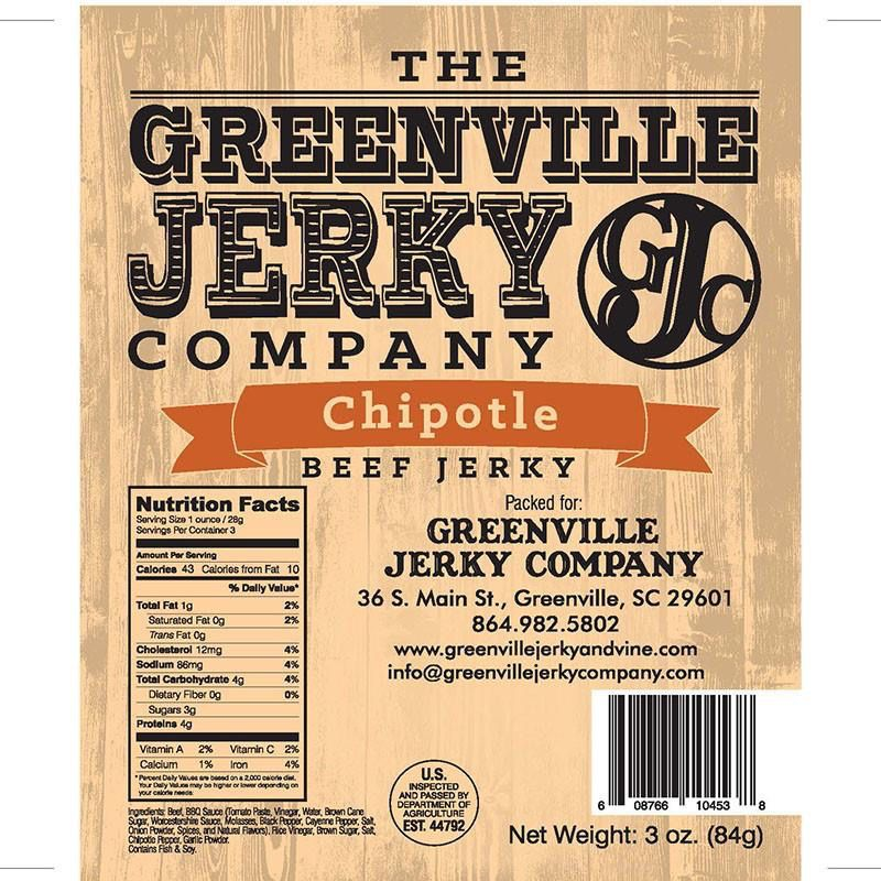 Food Beef Jerky Chipotle