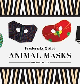 Hachette Fredericks & Mae Animal Masks: Twelve Notecards