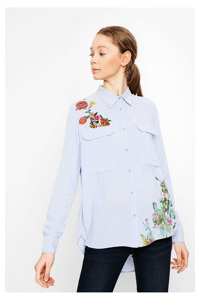 Desigual Desigual Miriam Pinstripe Button Down Shirt