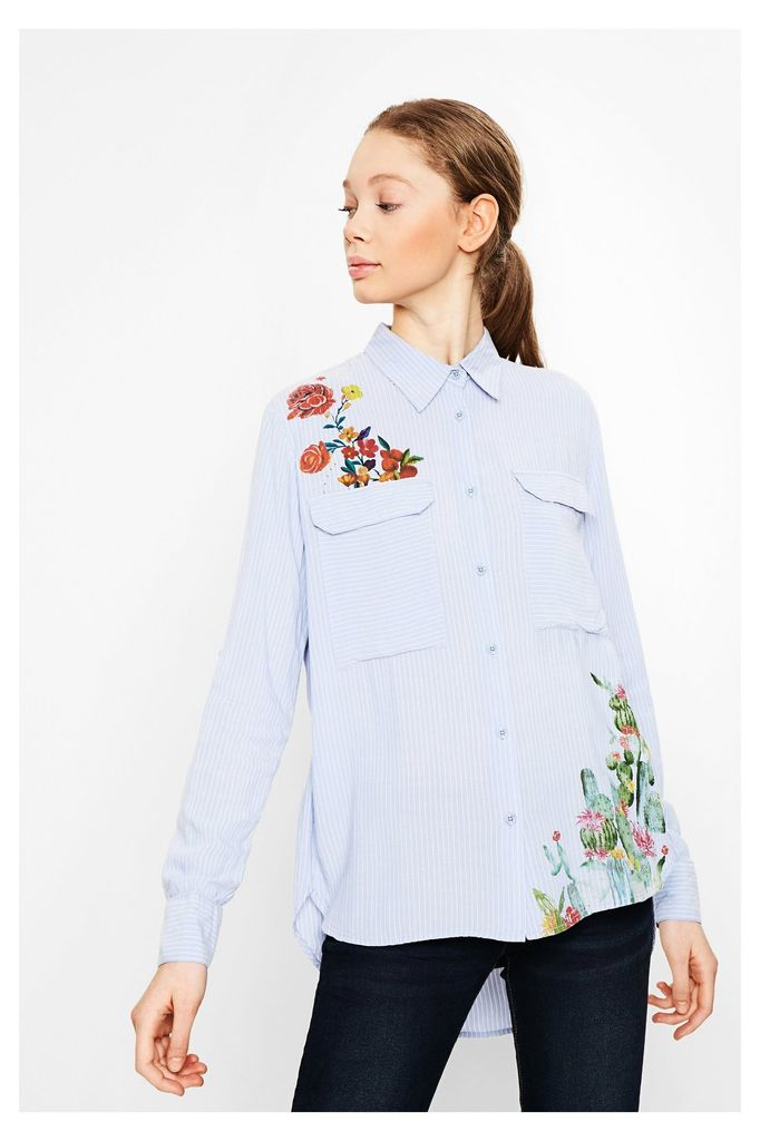 Desigual Miriam Pin-stripe Button Down Shirt